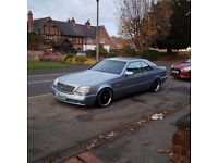 Mercedes Benz 500SEC CL500 S500 Pillarless Coupe 5.0 V8 automatic W140 C140 500 AMG