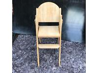 Solid wood highchair
