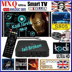 Android TV Box** Latest Model** MXQ 4K HD Fully loaded Free Uk Tv Sports & Movies + Amazon Netflix