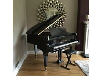 UP-CYCLED BLACK BABY GRAND PIANO