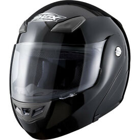 Shox Bullet Flip Front Motorcycle Helmet - Tried on but never used.