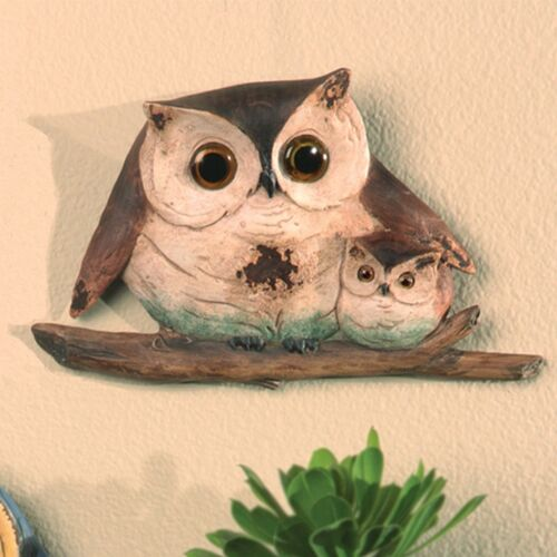Hugging Owl Plaque -  Home decor/ Fine craft/ Perfect gift/