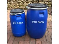 Strong clean plastic 60ltr & 30ltr barrel