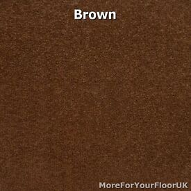CHEAP NEW QUALITY FELT BACK TWIST CARPET BROWN AND PINK 5.30 x 4 metres