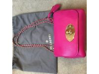 Mulberry Lily Fuschia across body bag excellent condition