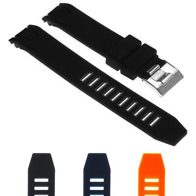 StrapsCo Silicone Rubber Watch Band Strap for Seamaster Planet Ocean Seamaster Planet Ocean Rubber Strap