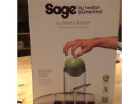 Brand new Sage Nutri Juicer BJE410UK still in box, bought as a 2nd juicer and 1st one still perfect
