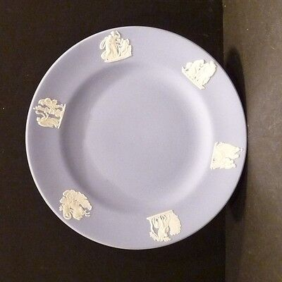 "Wedgwood Jasperware Blue Plate (B) - 6 1/2"" - MINT"