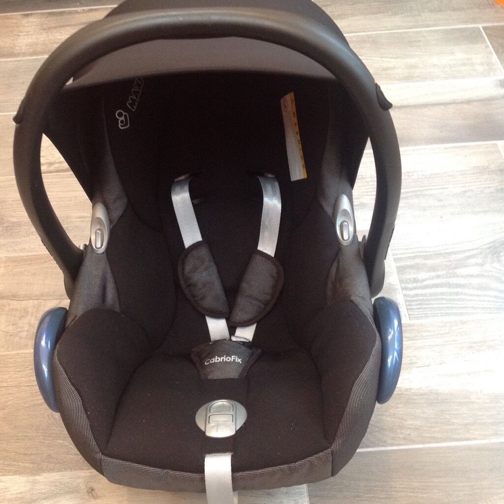 Maxi Cosi Cabriofix infant seat euc with instructions and all parts ...
