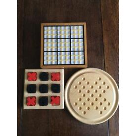 Wooden Games - Sudoku, Solitaire and Noughts & Crosses
