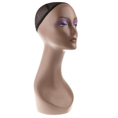 Free Stand Female Make-up Mannequin Head Bust Wig Hat Jewelry Display Stand