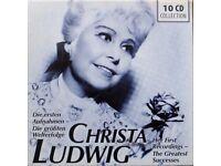 CLASSICAL 10 CD BOX SET CHRISTA LUDWIG AS NEW