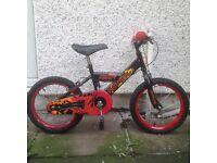 "Silver fox kids bike 16"""
