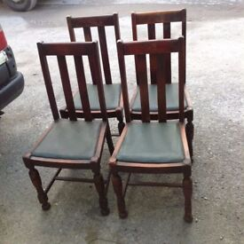 4 Cir 1900's dining chairs