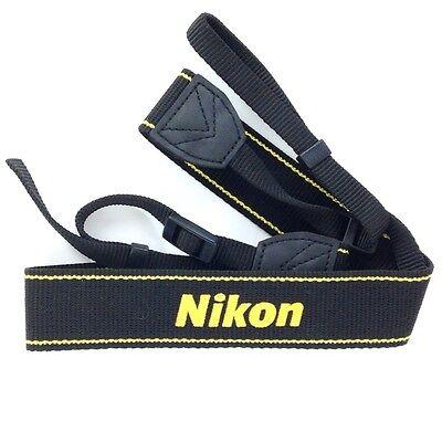 Genuine Nikon AN-DC3 Wide Neck & Shoulder Strap (Black & Yellow) #Q34