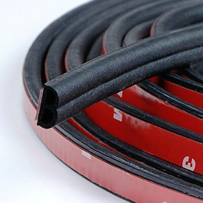 Used, 4M Black B-shape Window Door Rubber Seal Weather Strip Hollow Car Weatherstrip for sale  USA