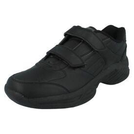 Mens Black Velcro HI-TEC Trainers Legend Wide