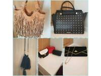 Selection of womens bags