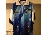 Steve Beaton personally signed darts exibition shirt