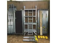 Boss Youngman narrow Alumnium scaffold tower evolution 6.2M WH X 1.8M
