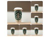 Personalised reusable coffee mugs