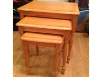 Nest of 3 Tables – Very Good Condition