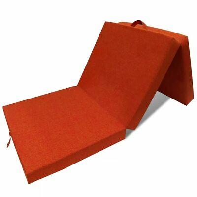 vidaXL Colchón naranja de espuma plegable Cama Invitados Campamento 190x70x9cm
