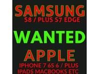 WANTED * IPHONE 7 / PLUS 6S PLUS 6 SE SAMSUNG S8 plus IPAD mini pro air note 8