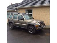 2005 jeep Cherokee 2.8 CRD turbo diesel 4x4 116506 miles mot till oct £2000 Ono tel 07899724742