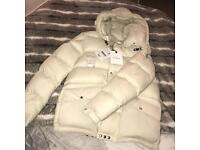 Men's white moncler coat