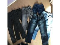6 pair of boys skinny jeans age 11 years