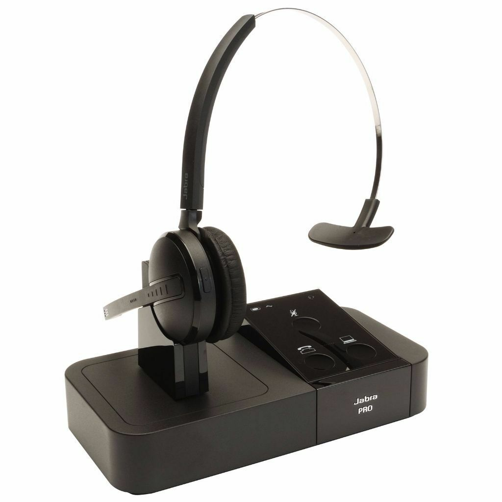 RRP £260 Jabra Pro 9450 Mono Wireless Headset Like 9460 PC Usb SKYPE Landline