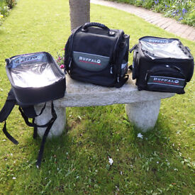 Set of 3 motorcycle bags, made by Buffalo