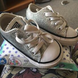Silver converse size 5