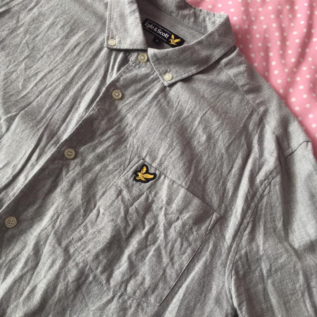 Lyle And Scott Long Sleeve Shirt Grey (L)