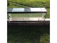 Glass Vivarium with sliding doors and roof panels 4 ft long