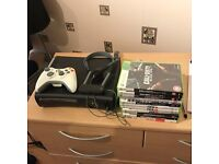 XBOX 360 ELITE BLACK 120GB HDD, CONTROLLER, HEADSET & 11 GAMES