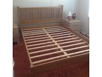 King size wooden bed frame £25.00