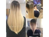 Russian Indian human mobile hair extensions nano micro rings hot fusion from £150