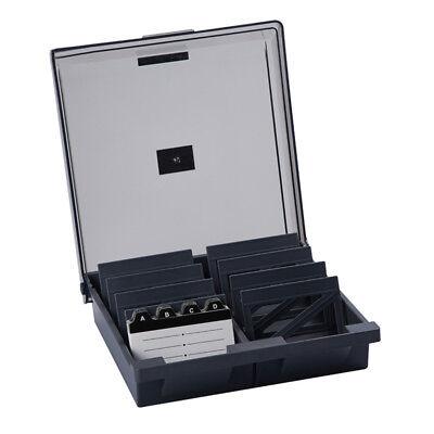 Card File Holder Organizer Heavy Duty Business Card Storage Box Big Capacity