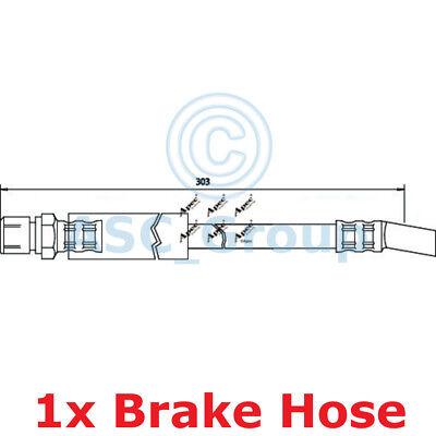 Apec BRAKING 303mm Bremsscheiben Bremssattel Flexible Gummi Schlauch HOS3356