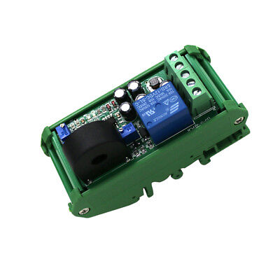 Ac Current Sensor Detection Module 0-20a Liner Switch Output With Base Dc24v