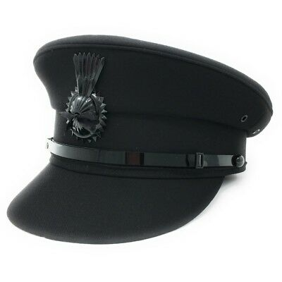 Mens Formal Chauffeur Hat Professional Quality Drivers Cap. Black or Grey