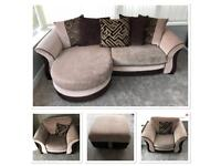 Sofa, 2 x Chairs and Pouffe - good condition