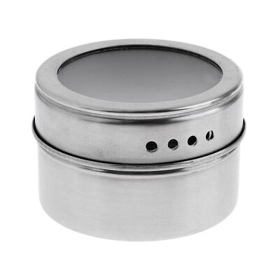 Stainless Steel Spice Sugar Salt Pepper Jar Shaker Seasoning Bottle Spice Jar-shaker