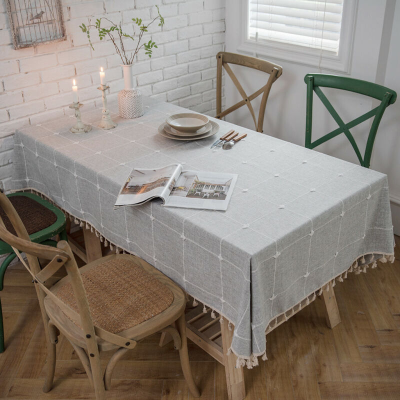 140cm×220cm Polyester Rectangle Tablecloths Table Covers Cl