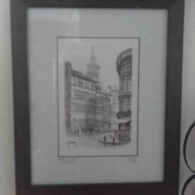 Terry Donnelly framed print Bessie Surtees Newcasle