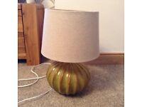 Beautifull green lamp and shade