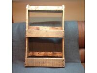 Pallet wood wine rack/storage