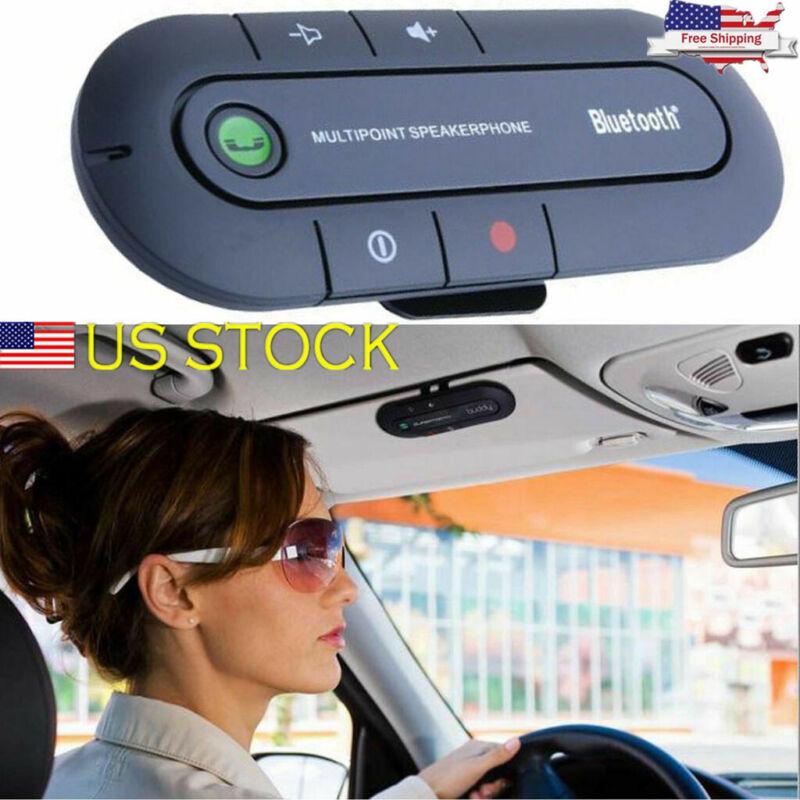 Auto Wireless Bluetooth Hand-Free Car Kit Speakerphone Speaker Phone Visor Clip